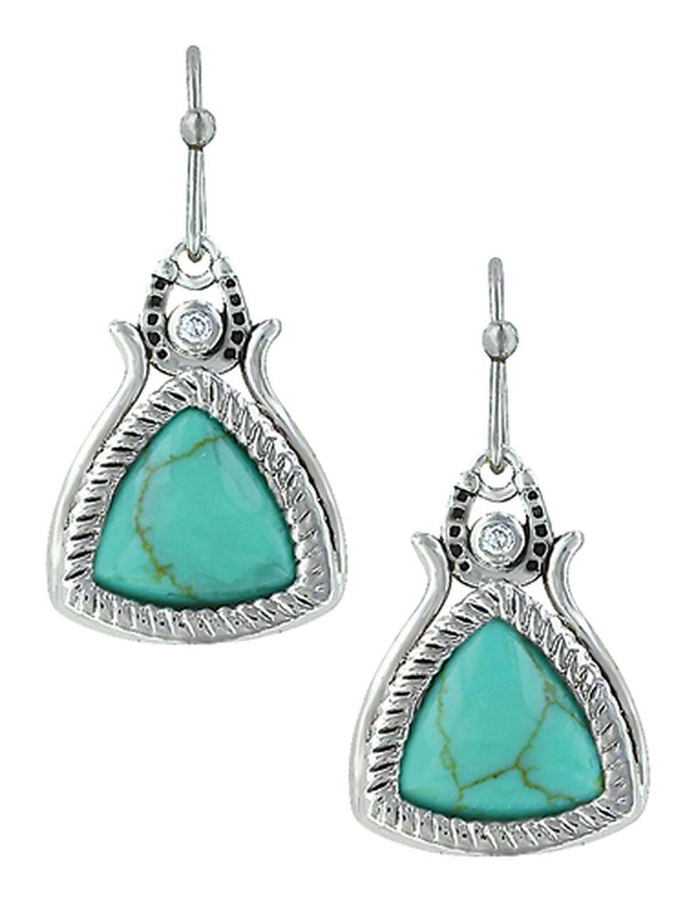 Montana Silversmiths Earth's Horseshoe Treasure Earrings , Turquoise, hi-res
