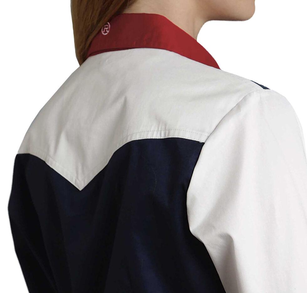 Roper Women's Stars & Stripes Colorblock Western Shirt, Patriotic, hi-res