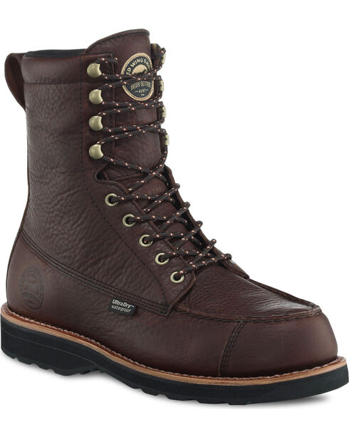 "Irish Setter by Red Wing Shoes Men's Dark Brown Wingshooter UltraDry 9"" Work Boots , Brown, hi-res"