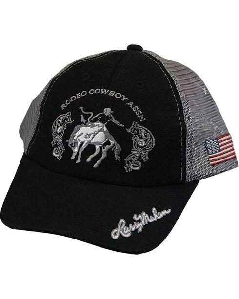 Larry Mahan Men's Bronc Rodeo Cowboy Assn Cap, Black, hi-res