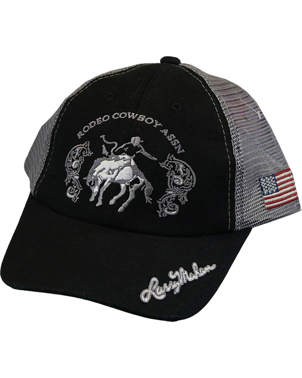 Larry Mahan Men's Bronc Rodeo Cowboy Assn Cap, Black, hi-res