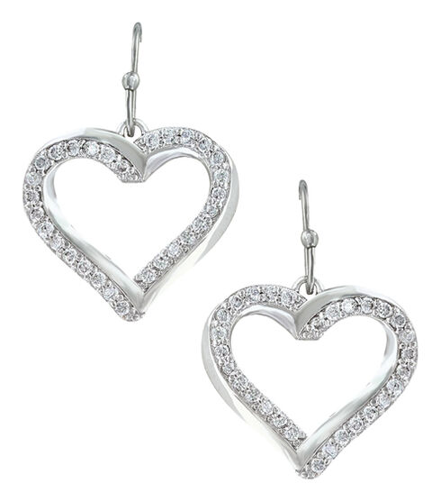 Montana Silversmiths Women's Bright Hearts Entwined Earrings , Silver, hi-res