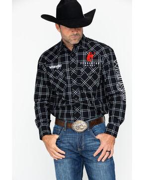 Wrangler Men's Long Sleeve Pendleton Whiskey Logo Shirt , Black, hi-res
