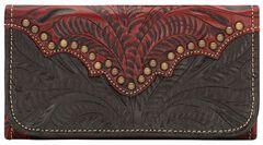 American West Annie's Secret Tri-fold Wallet, Crimson, hi-res