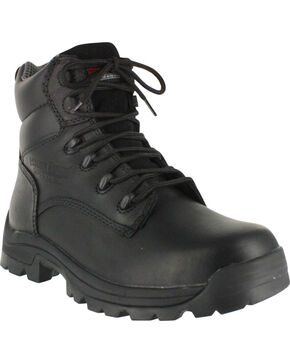 American Worker Men's Stealth Work Boots - Round Toe, Black, hi-res