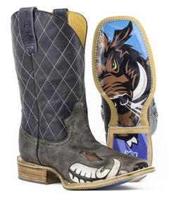 Tin Haul Men's Not Boaring Cowboy Boots - Square Toe, Brown, hi-res
