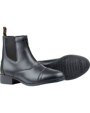 Dublin Kids' Foundation Zip Paddock Boots, Black, hi-res