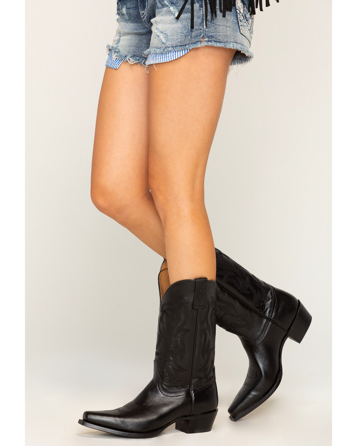 Black Cowgirl Boots - Snip Toe