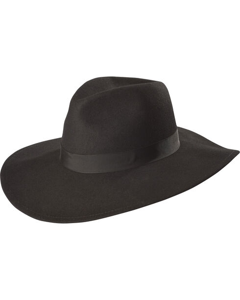 Stetson Women's Black Lilly Soft Felt Hat , Black, hi-res