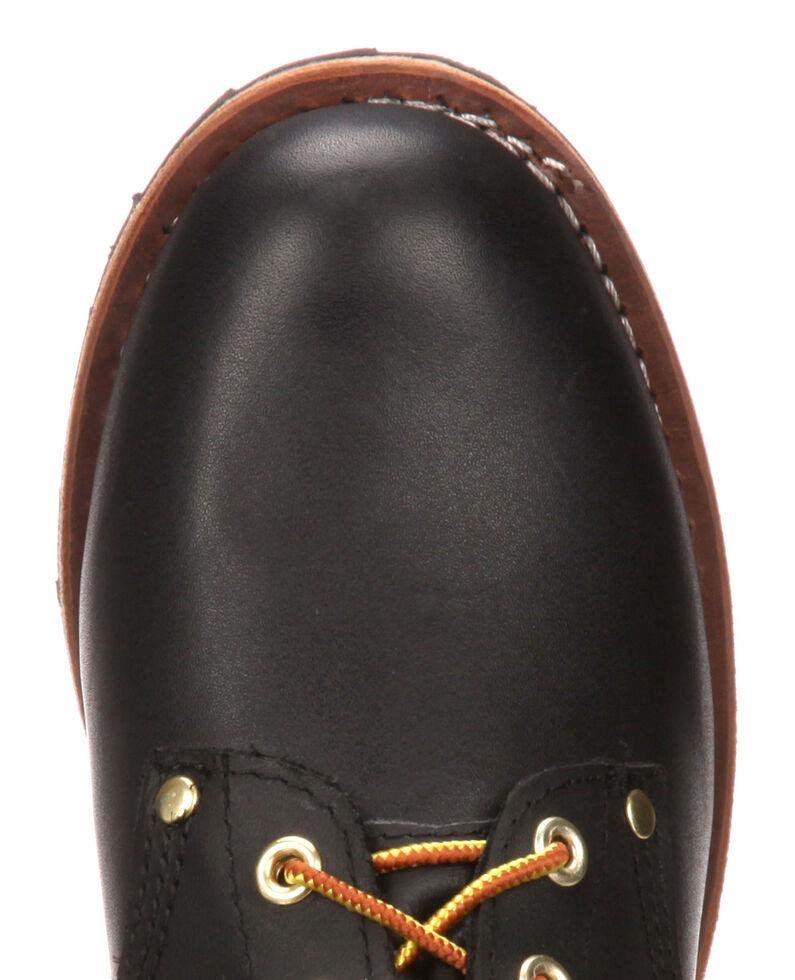 Georgia Logger Work Boots - Steel Toe, Black, hi-res