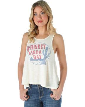 Wrangler Women's Whiskey Graphic Tank Top, Cream, hi-res
