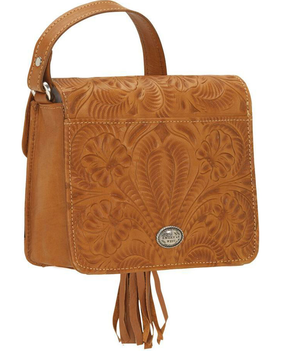 American West Women's Flower Power Flap Crossbody Bag , , hi-res