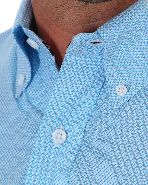 Wrangler Men's Blue George Strait Button Western Shirt , Blue, hi-res
