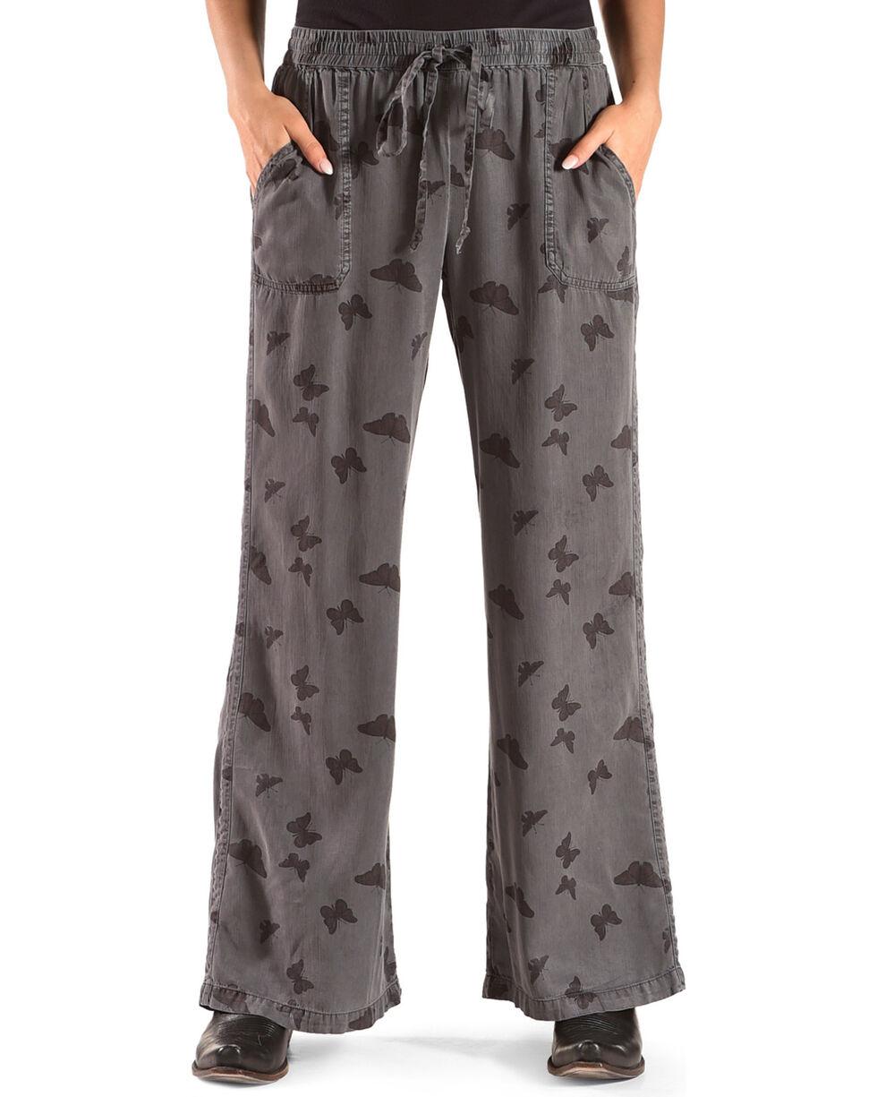 Billy T Women's Butterfly Drawstring Pants, Blue, hi-res
