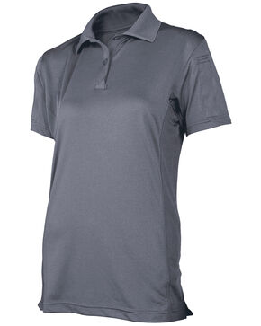 Tru-Spec Women's 24-7 Series Short Sleeve Eco Tec Polo , Steel, hi-res