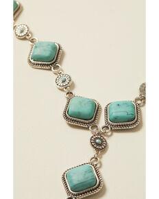 Shyanne Women's Bella Grace Turquoise Stone Jewelry Set, Silver, hi-res