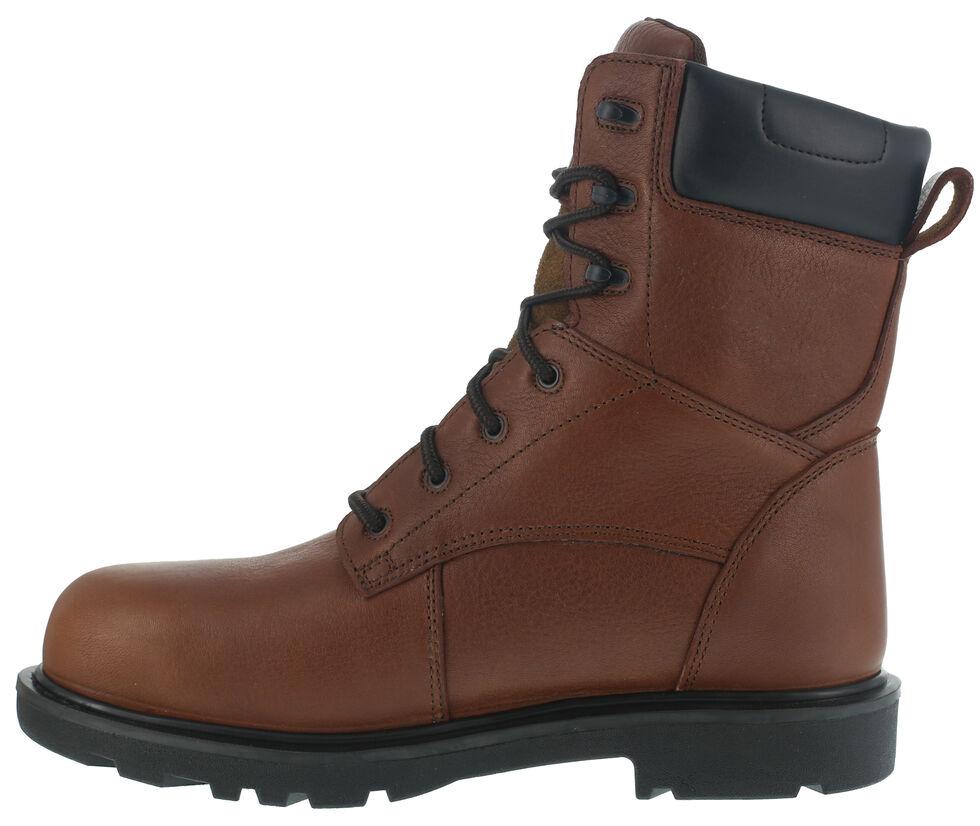 """Iron Age Men's Hauler Composite Toe Waterproof 8"""" Work Boots, Brown, hi-res"""