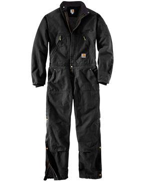 Carhartt Men's X01 Quilt Lined Duck Coveralls , Black, hi-res