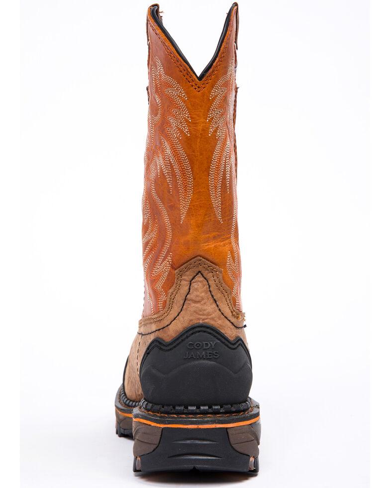 50ebc92f94d Cody James Men's Decimator Orange Top Western Work Boots - Composite Toe