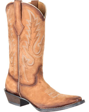 Durango Women's Sand Dream Catcher Boots - Square Toe , Sand, hi-res