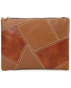Prime Time Women's Brown Patchwork Pouch Bag, Brown, hi-res