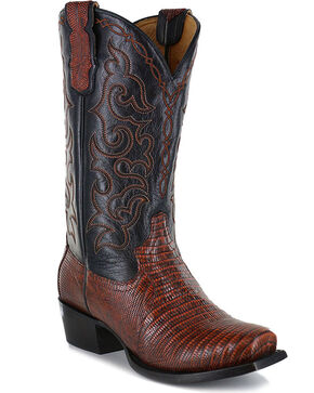 Moonshine Spirit Men's Louisiana Lizard Exotic Boots - Square Toe, Brown, hi-res