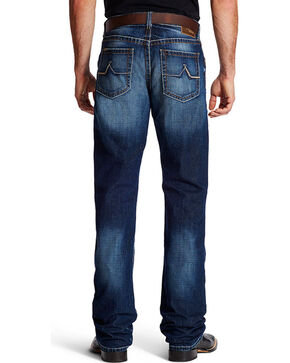 Ariat Men's M4 Austin Dark Wash Boot Cut Jeans, Indigo, hi-res