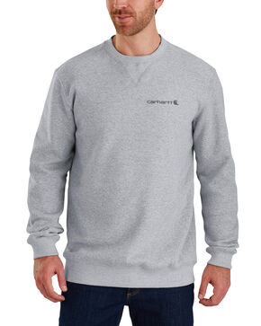 Carhartt Men's Midweight Graphic Crewneck Sweatshirt, Heather Grey, hi-res
