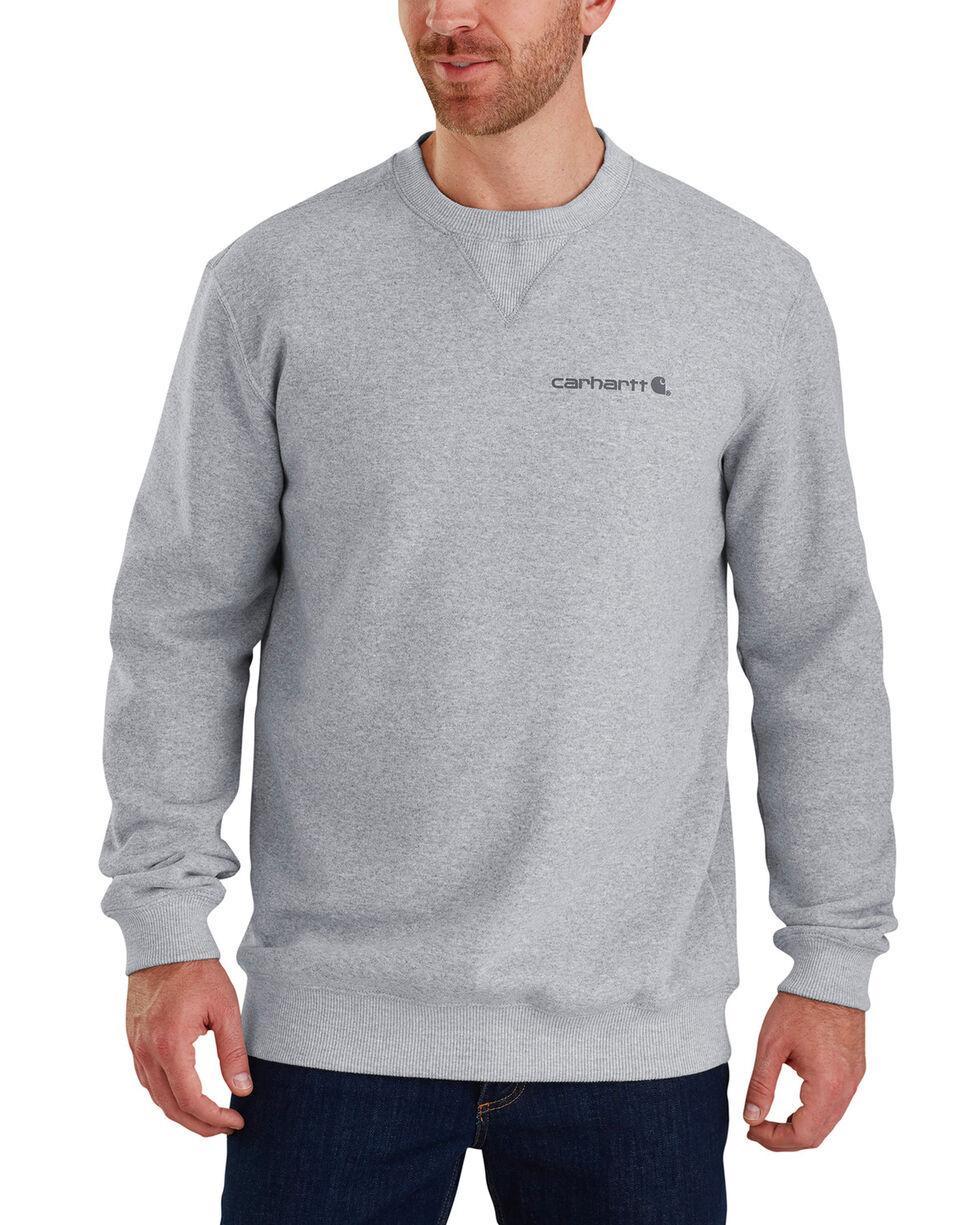 Carhartt Men's Midweight Graphic Crewneck Sweatshirt, Heather Grey, hi-res