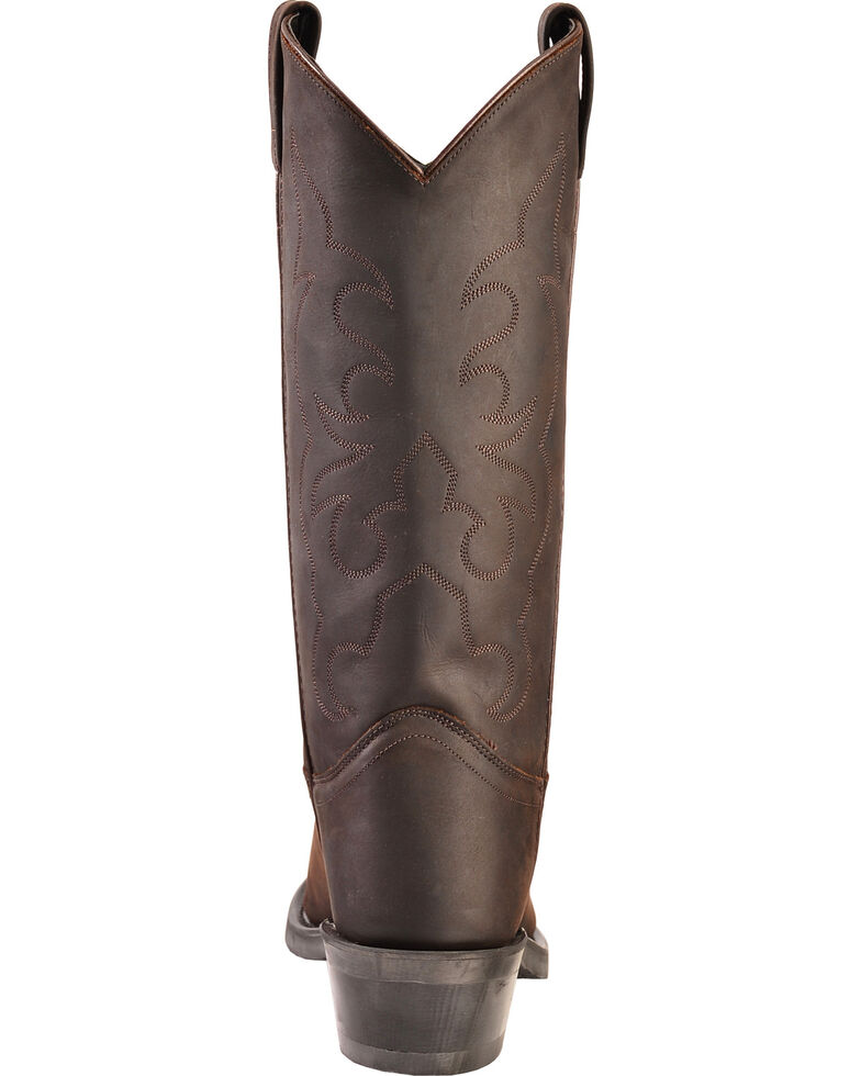 Old West Trucker Western Work Boots - Soft Toe, Distressed, hi-res