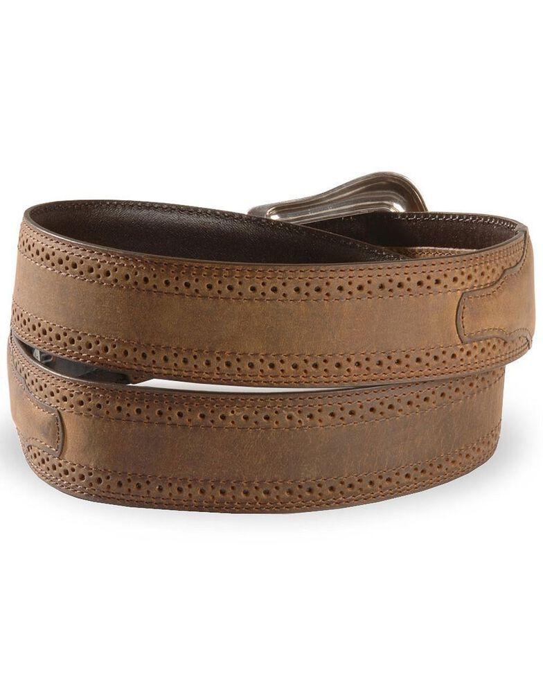 Ariat Basic Western Leather Belt - Reg & Big, Distressed, hi-res