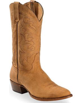 Moonshine Spirit Men's Crazy Horse Vintage Western Boots - Round Toe, Tan, hi-res