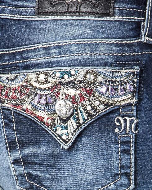 Miss Me Women's Dream On Mid Rise Boot Cut Jeans, Indigo, hi-res