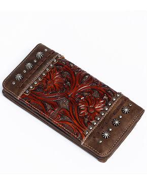 Shyanne Women's Glitter Underlay Wallet, Coffee, hi-res