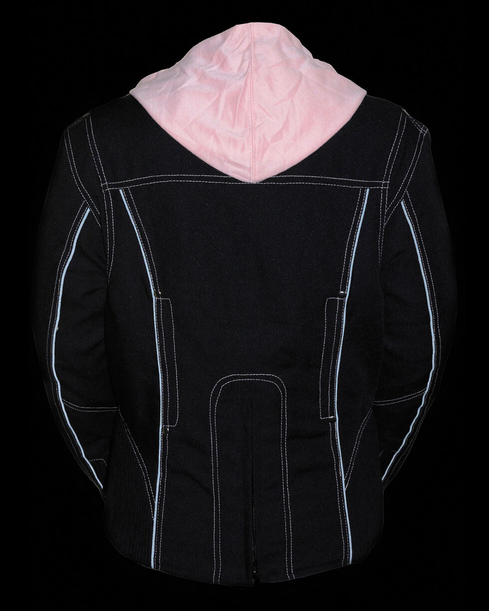 Milwaukee Leather Women's 3/4 Jacket With Reflective Tribal Detail - 4X, Pink/black, hi-res