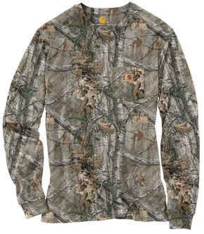 Carhartt Realtree Xtra® Camo Long Sleeve T-Shirt - Big & Tall, Camouflage, hi-res