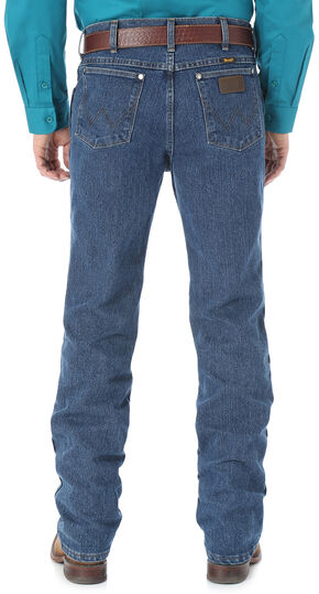 Wrangler Men's Premium Performance Cool Vantage Cowboy Cut Slim Fit Jeans, Dark Stone, hi-res
