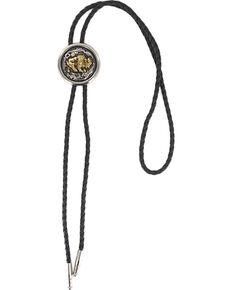 Cody James Men's Bison Bolo Tie , Silver, hi-res