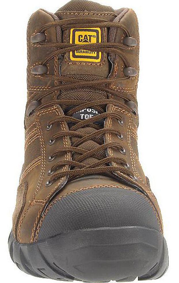 "Caterpillar 6"" Argon Waterproof Lace-Up Work Shoes - Composite Toe, Dark Brown, hi-res"