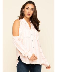 Ariat Women's Markle Cold Shoulder Top, Pink, hi-res