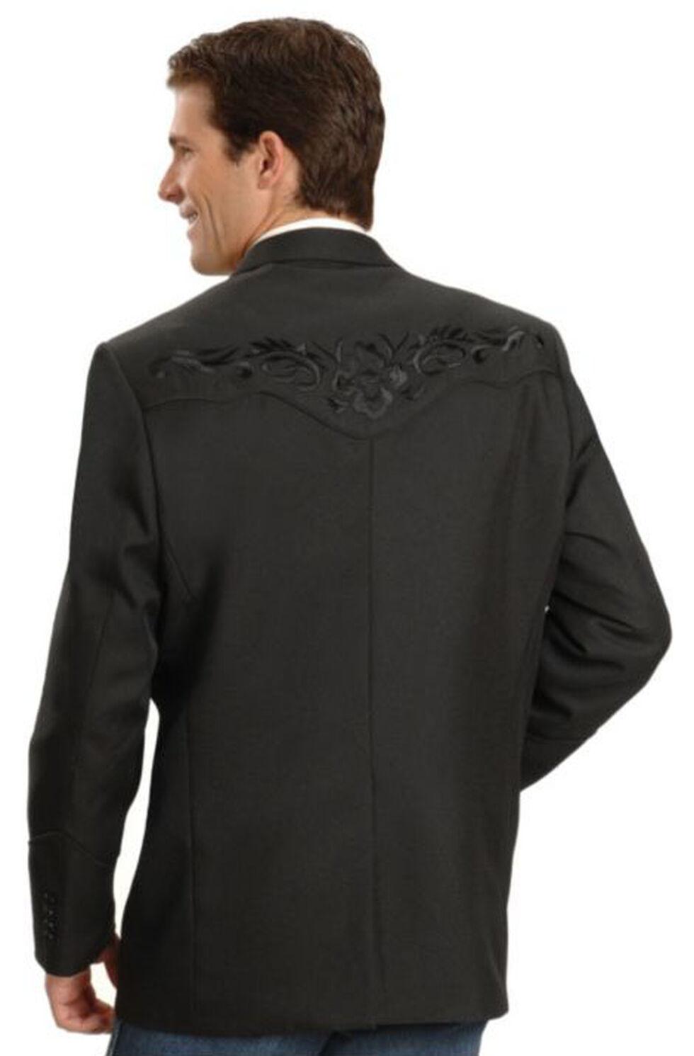 Scully Black Floral Embroidered Western Jacket - Big & Tall, Black, hi-res
