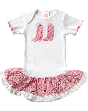 Girls' Bandana Print Infant Dress - 6-24 mos., Pink, hi-res