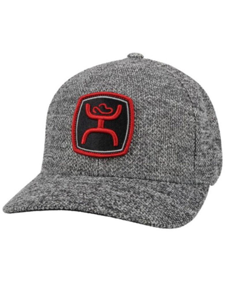 HOOey Men's Grey Zenith Embroidered Logo Solid Back Flex-Fit Ball Cap  , Grey, hi-res