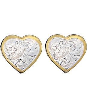 Montana Silversmiths Classic Montana Heart Earrings, Multi, hi-res