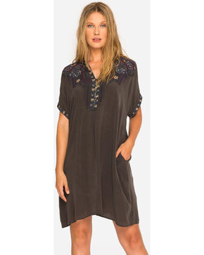 Johnny Was Women's Grey Wishmor Silk Tunic , Grey, hi-res