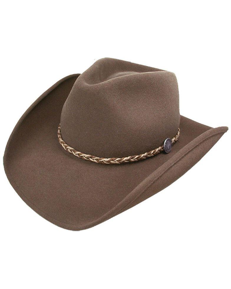 Stetson Men's Rawhide 3X Buffalo Felt Western Hat, Mink, hi-res