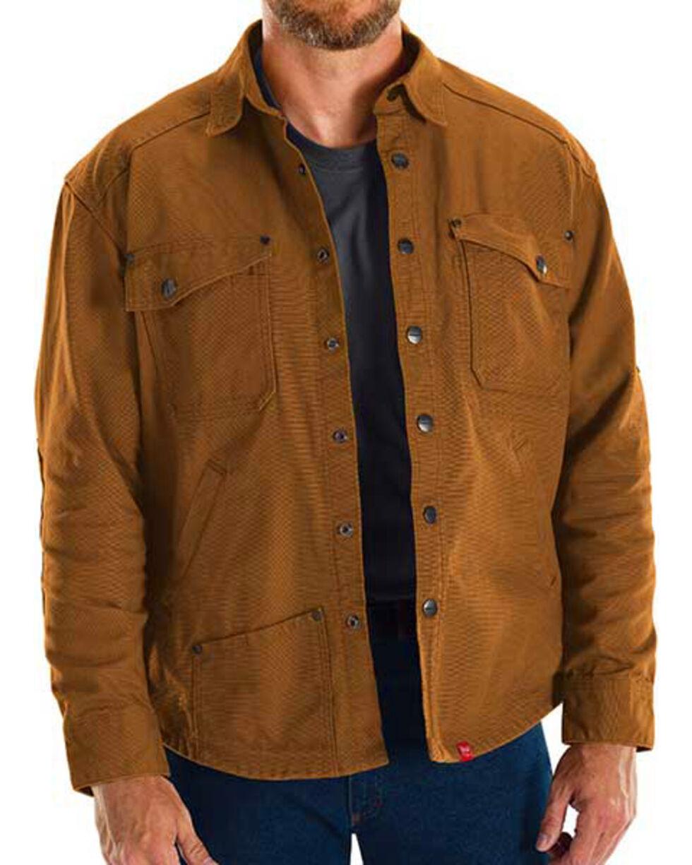 Red Kap Brown MIMIX Shirt Jac Work Jacket, Brown, hi-res