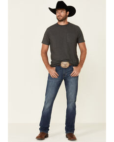 Wrangler Retro Men's Mount Bonnell Stretch Slim Bootcut Jeans , Blue, hi-res