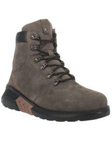 Dingo Men's Traffic Zone Lace-Up Boots - Round Toe, Grey, hi-res