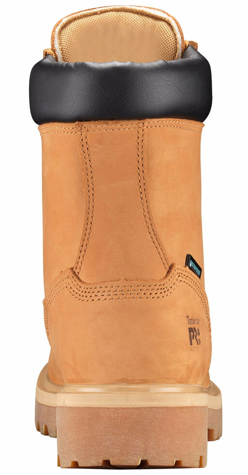 """Timberland Pro Men's Tan 8"""" Waterproof Insulated Work Boots - Round Toe , Tan, hi-res"""